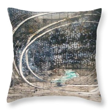 Cavernous Throw Pillow by Lesley Fletcher