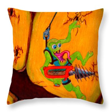 Cavity Creep Throw Pillow by Justin Moore