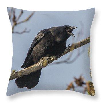 Caw Throw Pillow