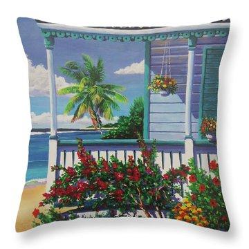 Cayman Porch Throw Pillow