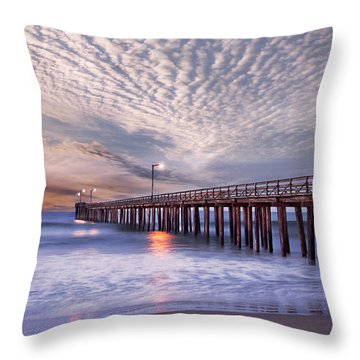 Cayucos Pier Throw Pillow by Alice Cahill