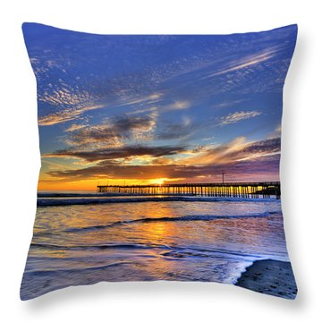 Cayucos Sunset Throw Pillow