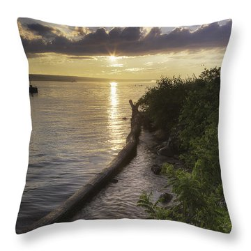 Cayuga Sunset II Throw Pillow