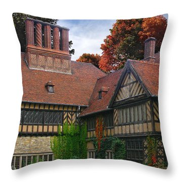 Throw Pillow featuring the photograph Cecilienhof Palace by Doug Kreuger