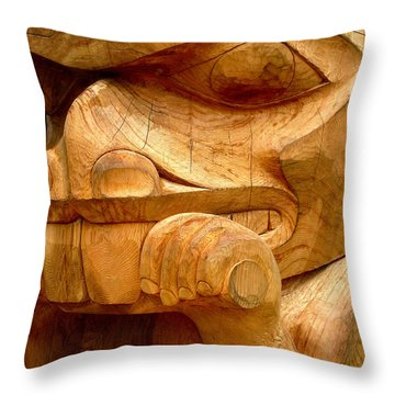 Cedar Beaver Throw Pillow