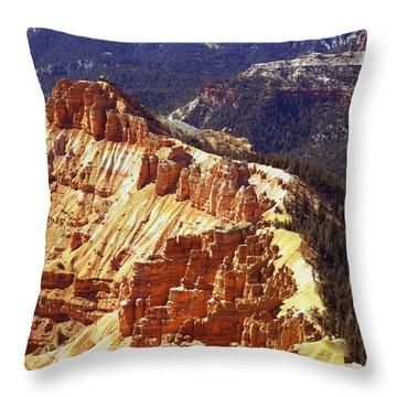 Cedar Breaks Utah Throw Pillow by Rich Franco