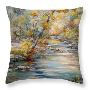 Cedar Creek Trail Throw Pillow