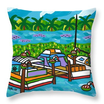 Cedar Key Bayou Throw Pillow