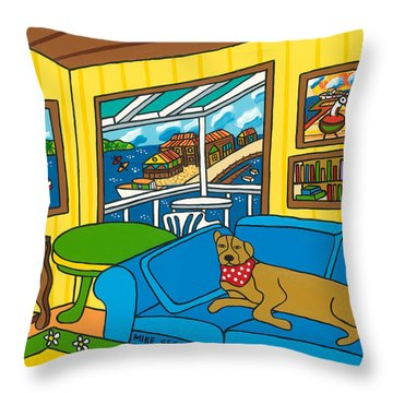 Cedar Key Snoozer Throw Pillow