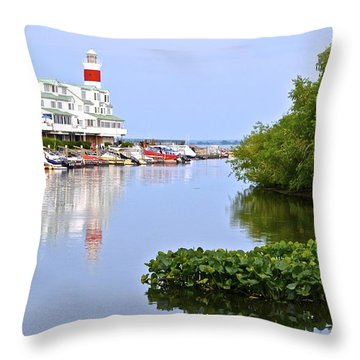 Cedar Point Ohio Throw Pillow by Frozen in Time Fine Art Photography