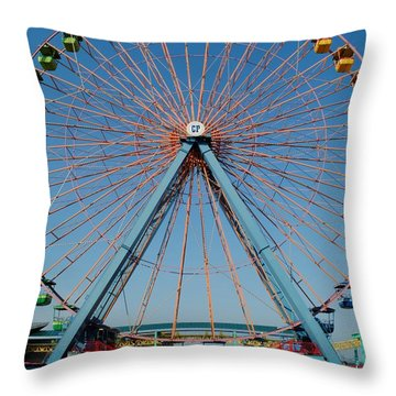 Cedar Point Sunday Throw Pillow by Frozen in Time Fine Art Photography
