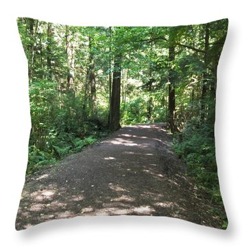 Throw Pillow featuring the photograph Cedar Shadow Steps by Kim Prowse