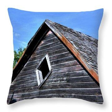 Cedar Shingles Throw Pillow