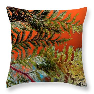 Throw Pillow featuring the photograph Cedar Canvas by Gwyn Newcombe