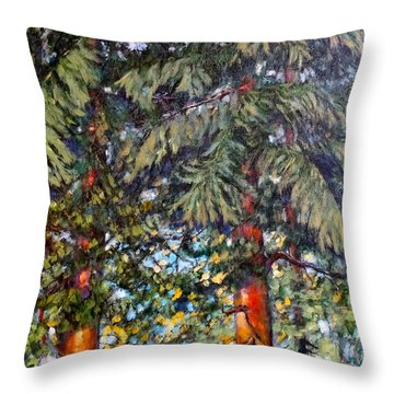 Cedars Throw Pillow