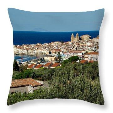 Cefalu Sicily Throw Pillow by Alan Toepfer