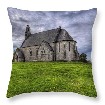 Cefn Meiriadog Parish Church Throw Pillow by Ian Mitchell