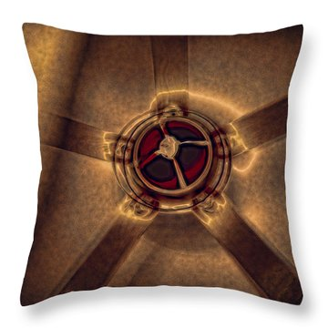 Ceiling Fan Reflected In Ipad Throw Pillow by J Riley Johnson