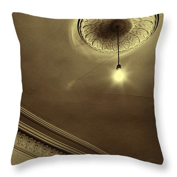 Throw Pillow featuring the photograph Ceiling Light by Craig B