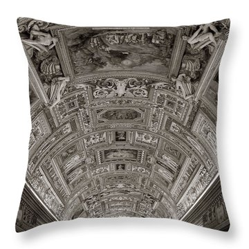 Ceiling Of Hall Of Maps Throw Pillow