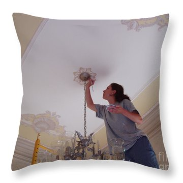 Ceiling Painting Throw Pillow