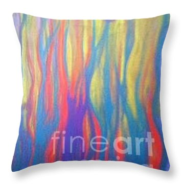 Celebrate Throw Pillow by Bebe Brookman