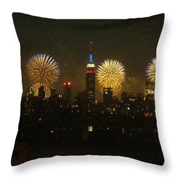 Throw Pillow featuring the photograph Celebrate Freedom by Carl Hunter