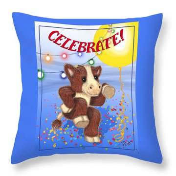 Celebrate Throw Pillow by Jerry Ruffin