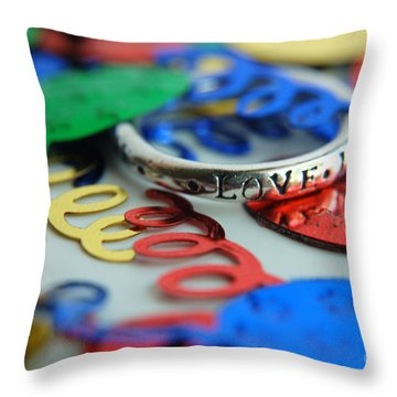 Throw Pillow featuring the digital art Celebrate Love by Margie Chapman