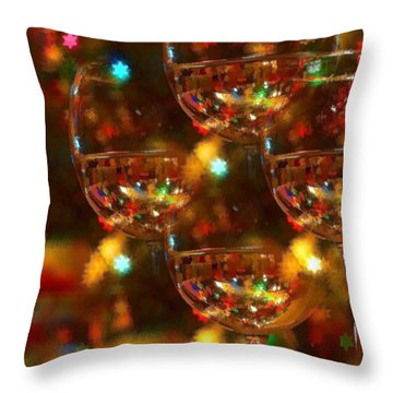 Celebrate Throw Pillow by Peggy Hughes