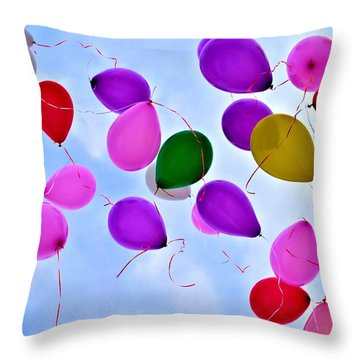 Celebrate Throw Pillow by Tara Potts
