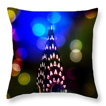 Celebrate The Night Throw Pillow