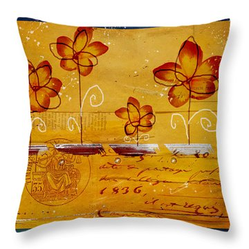 Celebrate - Txt02t2 Throw Pillow by Variance Collections