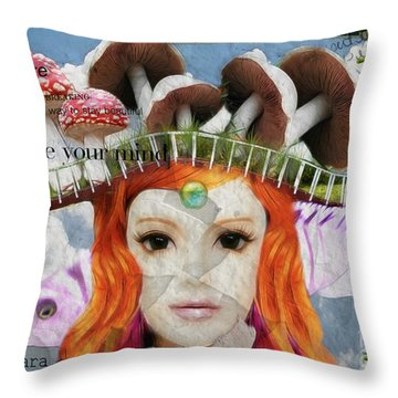Throw Pillow featuring the digital art Celebrate Who You Are by Barbara Orenya