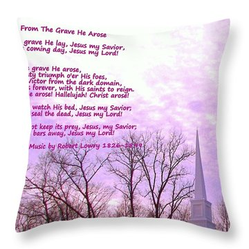 Celebrating The Resurrection Throw Pillow by Pamela Hyde Wilson