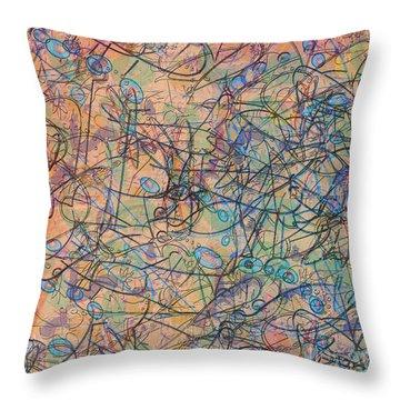 Throw Pillow featuring the digital art Celebration by Gabrielle Schertz