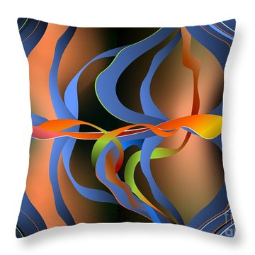 Throw Pillow featuring the digital art Celebration by Leo Symon