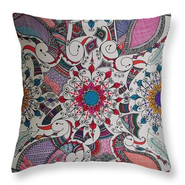 Celebration Of Design Throw Pillow by M Ande