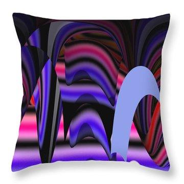 Celestial Cave Digital Art Throw Pillow by Georgeta  Blanaru