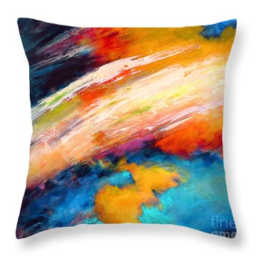 Fantasies In Space Series Painting. Celestial Vibrations. Throw Pillow