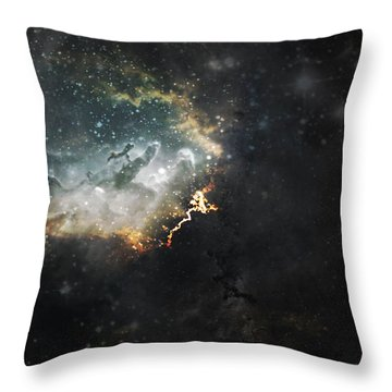 Celestial Throw Pillow by Cynthia Lassiter