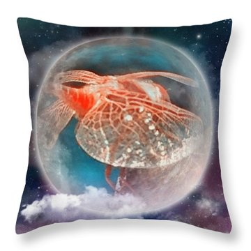 Celestial Dragonfly, A Digital Creation Throw Pillow