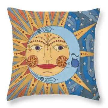 Celestial Embrace Throw Pillow