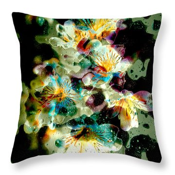 Celestial Flowers Throw Pillow by Loriental Photography