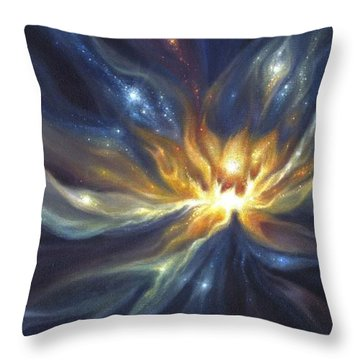 Celestial Lotus Throw Pillow