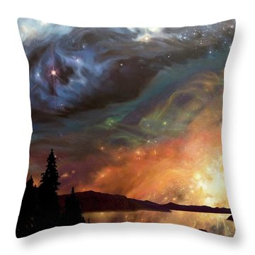 Celestial Northwest Throw Pillow