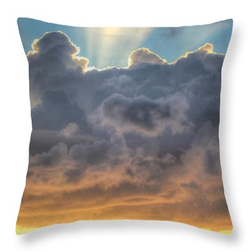 Celestial Rays Throw Pillow