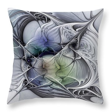 Celestial Sphere Abstract Art Throw Pillow