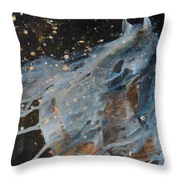 Celestial Stallion  Throw Pillow