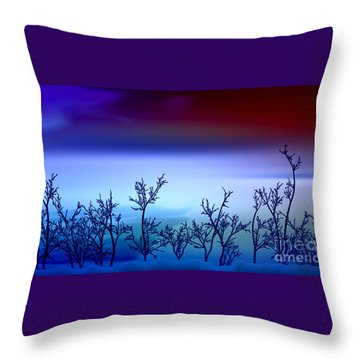Celestial Stem Throw Pillow by Peter R Nicholls